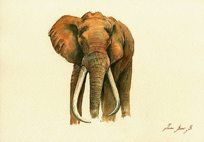 Elephant Painting        Poster by Juan  Bosco