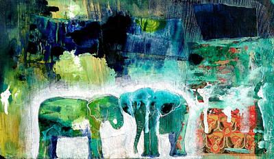 Elephants 2 Poster by Jenn Ashton