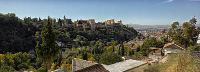 Elevated View Of Alhambra Palace Poster by Panoramic Images
