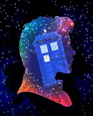 Doctor Who Inspired Eleventh Doctor Tardis Poster by Alondra Hanley