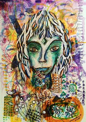 Poster featuring the mixed media Elf by Mimulux patricia no No