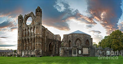 Elgin Cathedral Poster by Jane Rix