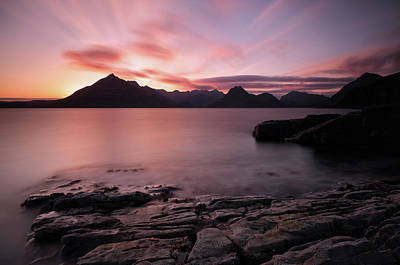 Elgol Colourful Sunset Poster