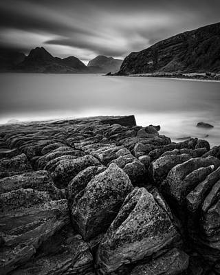 Elgol Rocks Poster by Dave Bowman
