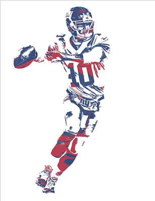 Eli Manning New York Giants Pixel Art 10 Poster