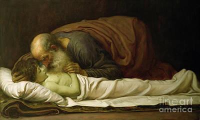 Elisha Raising The Son Of The Shunamite Poster by Frederic Leighton