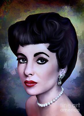 Poster featuring the painting Elizabeth  by Andrzej Szczerski