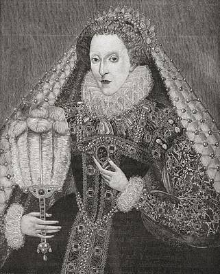 Elizabeth I, 1533 To 1603. Queen Of Poster by Vintage Design Pics