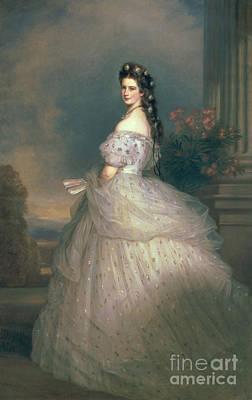 Elizabeth Of Bavaria Poster by Franz Xavier Winterhalter