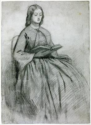 Elizabeth Siddall In A Chair Poster