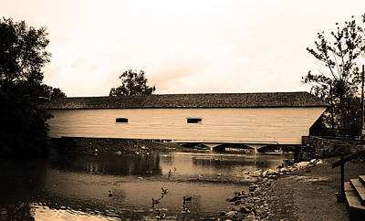 Elizabethton Tennessee Covered Bridge 2008 Poster by Frank Romeo