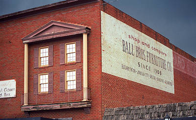 Elizabethton Tennessee Ghost Mural 2008 Poster by Frank Romeo