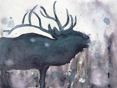 Poster featuring the painting Elk by Dawn Derman