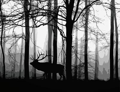 Elk Forest Poster