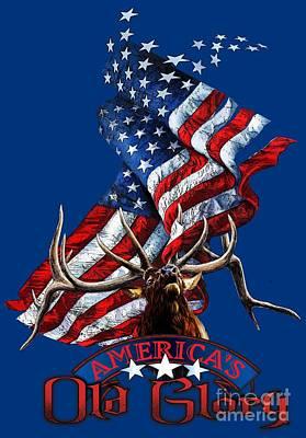 Elk Old Glory Poster