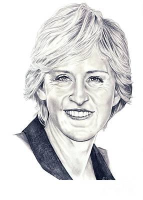 Ellen Degeneres Poster by Murphy Elliott