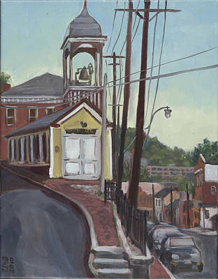 Ellicott City Firehouse Poster by Edward Williams