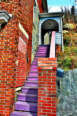 Ellicott City Steps Poster by Stephen Younts