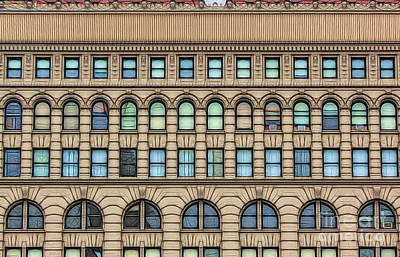 Poster featuring the photograph Ellicott Square Building Buffalo Ny Ink Sketch Effect by Rose Santuci-Sofranko