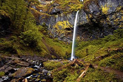 Elowah Falls Oregon Poster