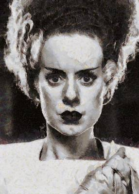 Elsa Lanchester Bride Of Frenkenstein Poster