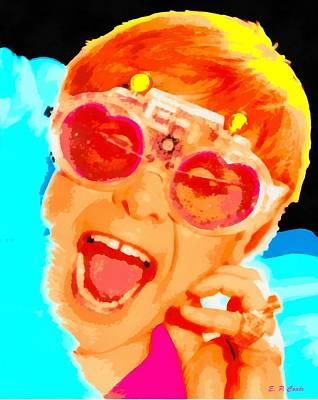 Elton John Poster by Elizabeth Coats