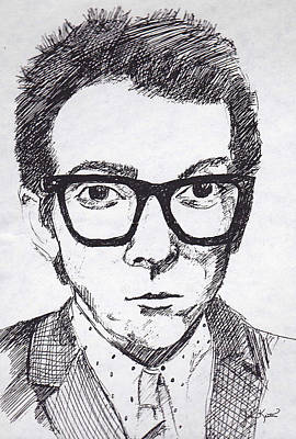 Elvis Costello Poster by John Keaton