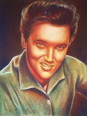 Elvis In Color Poster by Anastasis  Anastasi