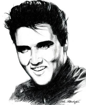Elvis Poster by Lin Petershagen