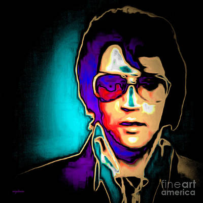 Elvis Presley 20151218 Square Poster by Wingsdomain Art and Photography