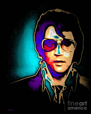 Elvis Presley 20151218v2 Poster by Wingsdomain Art and Photography