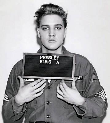 Elvis Presley Army Mugshot 1960 Poster