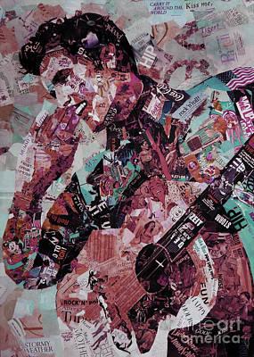 Elvis Presley Collage Art 01 Poster
