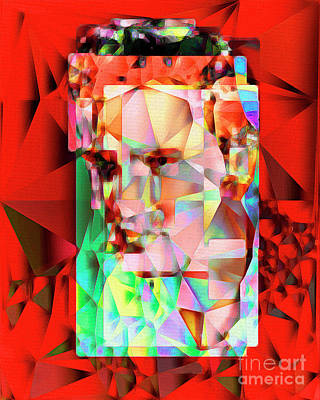 Elvis Presley In Abstract Cubism 20170326 V5 Poster by Wingsdomain Art and Photography