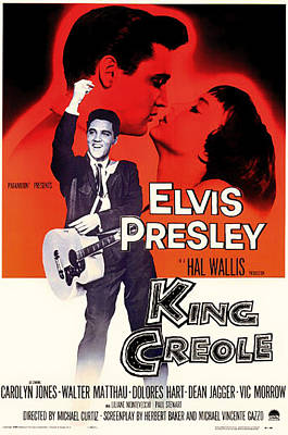 Elvis Presley In King Creole 1958 Poster