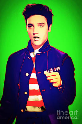 Elvis Presley Jail House Rock 20151221 Green Poster by Wingsdomain Art and Photography