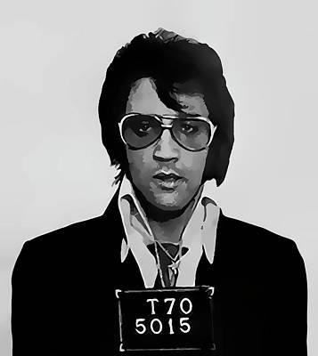 Elvis Presley Mugshot  1970 Poster