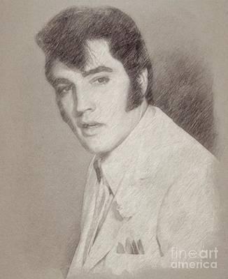 Elvis Presley, Singer Poster by Frank Falcon