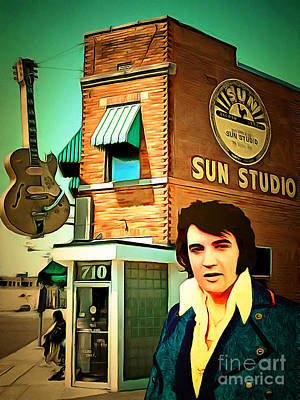 Elvis Presley The King At Sun Studio Memphis Tennessee 20160216 Poster by Wingsdomain Art and Photography