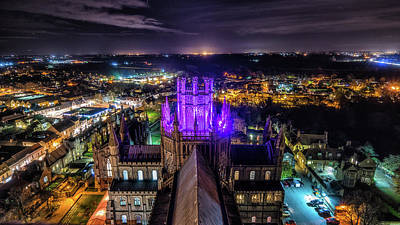 Poster featuring the photograph Ely Cathedral In Purple by James Billings