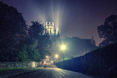 Poster featuring the photograph Ely Cathedral - Night by James Billings