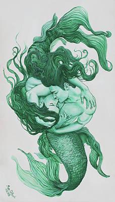 Embracing Mermen Poster