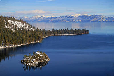 Emerald Bay At Lake Tahoe Poster by Donna Kennedy