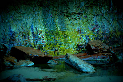 Emerald Cave Poster by Nature Macabre Photography