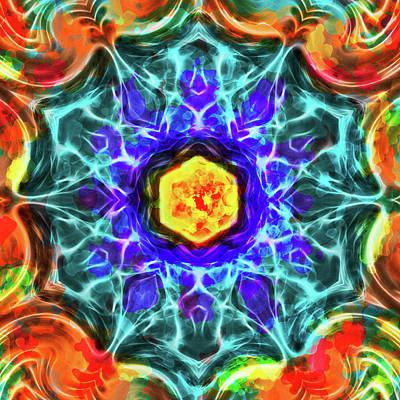 Emerald Circle Mandala Poster