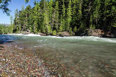 Emerald Waters Flow Poster