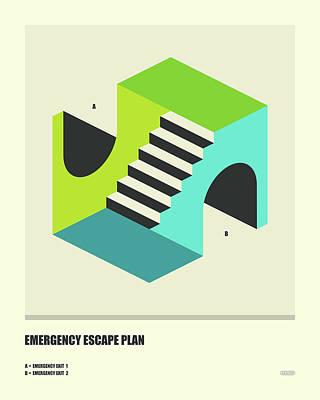 Emergency Escape Plan 4 Poster