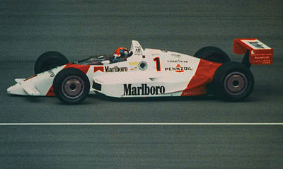 Emerson Fittipaldi At Indy Poster