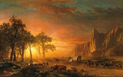 Emigrants Crossing The Plains - 1867 Poster by Albert Bierstadt