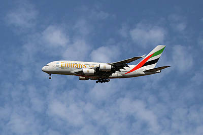 Emirates Airbus A380-861 1 Poster